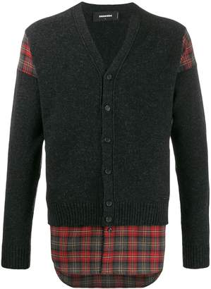 DSQUARED2 check panel cardigan