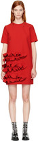 MSGM Red Ruffle Dress