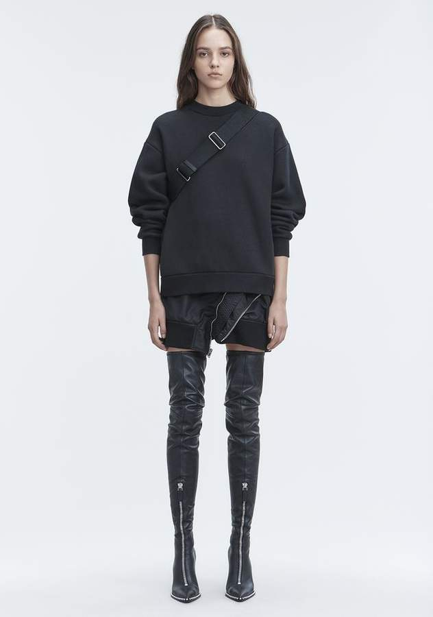 Alexander Wang FLEECE SWEATSHIRT SWEATER