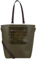 Accessorize Molly Snake Colourblock Tote Bag