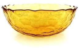 Red Pomegranate SET OF 4 HIVE SOUP BOWLS AMBER