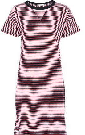 Rag & Bone Striped Cotton-Jersey Mini Dress