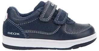 Geox Children's B New Flick Double Riptape Shoes, Navy