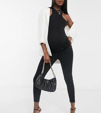 Topshop Maternity Jamie underbump skinny jeans in black