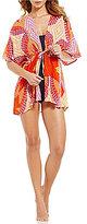 Echo Havana Geo Open Front Swimsuit Cover Up