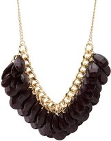 Charlotte Russe Chunky Chainlink & Beaded Statement Necklace