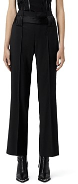The Kooples Wool Tie Waist Pants