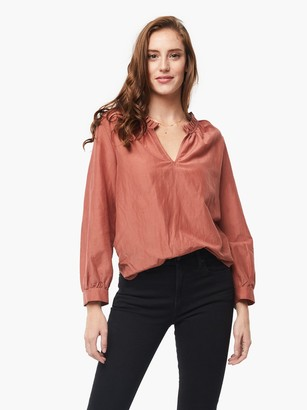 ABLE Sylvia Ruffle Neck Blouse