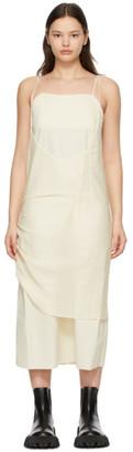 Ader Error Off-White Crepe Layered Dress