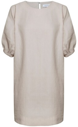 Skin and Threads Linen Shift Dress