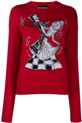 Moschino Chess Dancers extrafine wool sweater