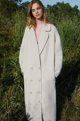Mansur Gavriel Bicolor Wool Oversized Coat - Beige/Blush