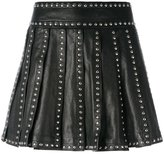 DSQUARED2 studded pleated skirt - women - Calf Leather/Polyester/Aluminium - 36