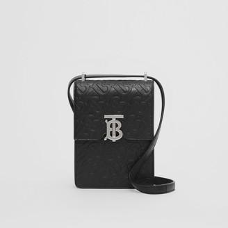 Burberry Monogram Leather Robin Bag