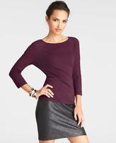 Ann Taylor Pointelle Sleeve Bow Back Sweater