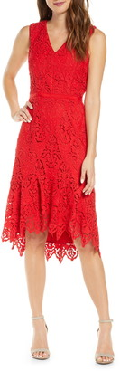 Adelyn Rae Damion High/Low Lace Dress