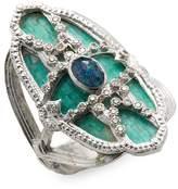 Armenta Women's Sterling Silver Opal, Quartz and Diamond Mosaic Ring