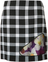 Christopher Kane check floral skirt - women - Silk/Polyester/Acetate/Virgin Wool - 38