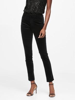 Banana Republic Petite Modern Sloan Skinny-Fit Velvet Pant