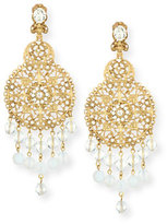 Oscar de la Renta Filigree Disc Drop Chandelier Earrings