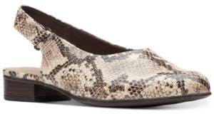 Clarks Collection Women's Julliet Pull Slingback Dress Shoes Women's Shoes