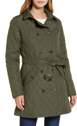 Barbour Riversdale Quilted Trench Coat