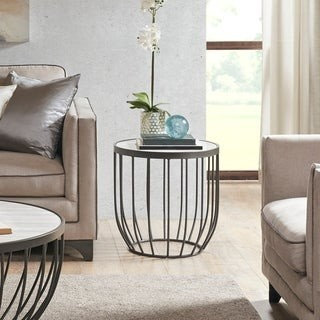 Madison Home USA Heather Natural/ Graphite End Table
