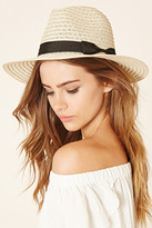 Forever 21 FOREVER 21+ Wide-Brim Straw Fedora