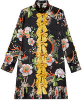 Gucci Dragon flower print dress