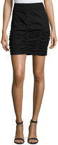 XCVI Nashi Ruched Skirt, Black