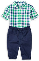 Ralph Lauren Baby Boys Two-Piece Shirt and Jogger Pants Set