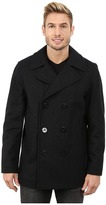 Nautica Button Front Peacoat