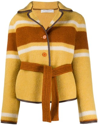 Philosophy di Lorenzo Serafini Striped Tie-Waist Jacket