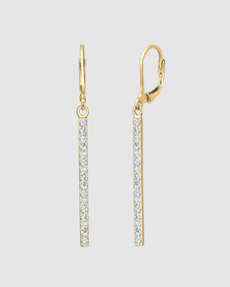 Elli Jewelry Earrings Pendant Geo Statement with Swarovski& Crystals in 925 Sterling Silver Gold Plated