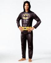 Briefly Stated Men's Batman Dark Knight Hooded One-Piece Pajamas