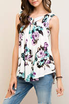 Entro Sleeveless Floral Top