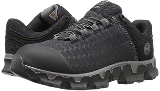 Timberland Powertrain Sport Soft Toe SD+ (Black Synthetic) Women's Work Lace-up Boots