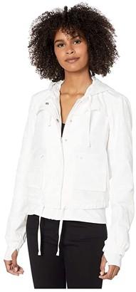 Blanc Noir Skyfall Aviator Jacket (White Camo) Women's Clothing