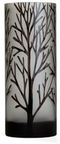 Torre & Tagus 901577B Etched Tree Glass Vase, Tall, Black by
