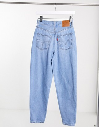 Levi's high loose tapered jean in lightwash blue