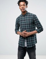 Minimum Tahi Slim Check Shirt Buttondown Brushed Cotton