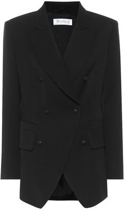 Max Mara Fibbia double-breasted wool blazer