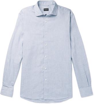 Ermenegildo Zegna Slub Linen And Cotton-Blend Shirt