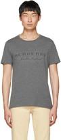 Burberry Grey Devoré Logo Martford T-shirt