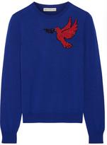 Mary Katrantzou Helia Embellished Wool Sweater - Cobalt blue
