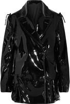 Maison Margiela Cutout glossed-shell coat