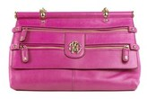 Roberto Cavalli Womens Pink Grande Doctor Satchel Shoulder Bag.