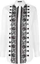 Dolce & Gabbana lace sequin detail shirt