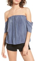 Sun & Shadow Women's Off The Shoulder Washed Top
