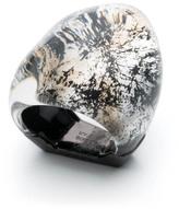 Alexis Bittar Matte Black Molten Ring